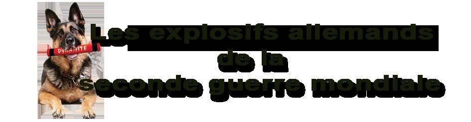 Les explosifs allemands